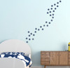 2 Inch Deep Blue Star Wall Vinyl Stickers Shapes for Room Decor or School Art