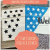 2-Inch Star Shape Vinyl Wall Stickers used as a stencil