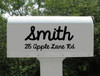 Personalized Mailbox Decal with House Number and Street Name
