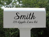 Personalized Mailbox Decal with Last Name, House Number and Street Name