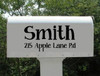 Mailbox Decal with Last Name, House Number and Street Name