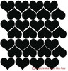 2 inch Heart Shapes 28 pc Wall Decal Stickers Shapes - Easy peel n stick application