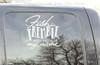 Car Truck Window Decal Fishing Fish Tremble Vinyl Sticker Humor