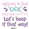 Option1 Wall Vinyl Sticker Decal for Backyard Pool Area