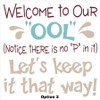 Welcome to our Pool Printed Decal Funny Saying No P Option2