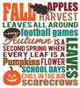 Fall Subway Art Vinyl Decal Wall Art Sticker Seasonal Lettering