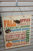 Fall Printed Decal Vinyl Sticker on Painted Board DIY Craft