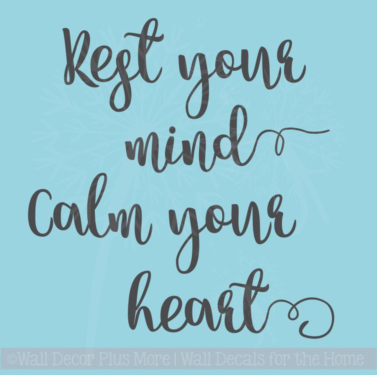 Rest Your Mind Vinyl Wall Decals Encouraging Affirmation Health Quotes Unique Health Quotes