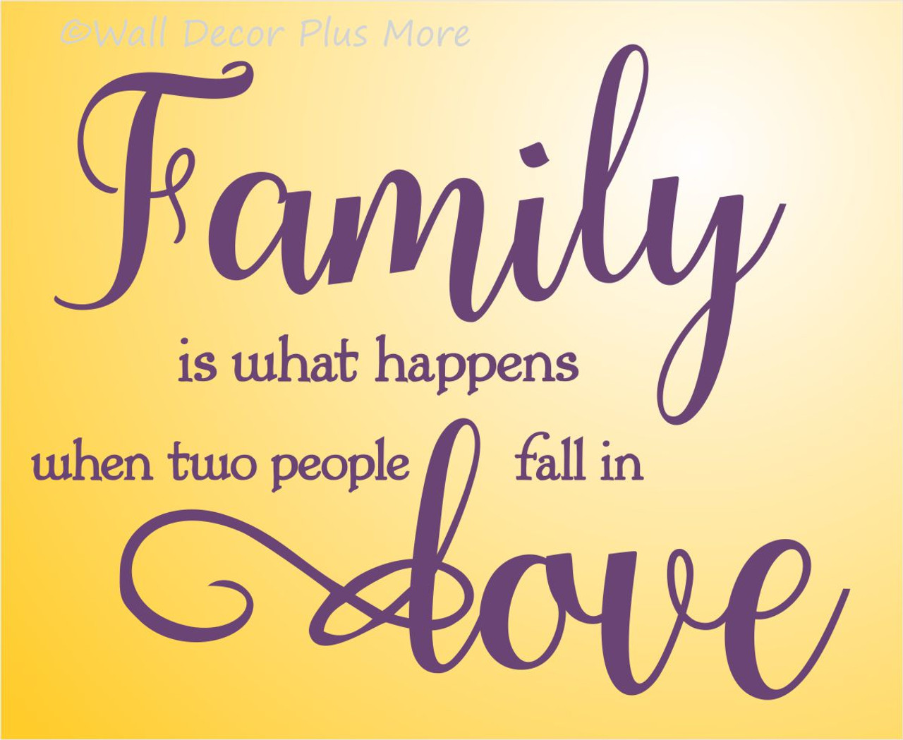 Family Wall Letters Quotes When Two People Fall In Love Wall Decal