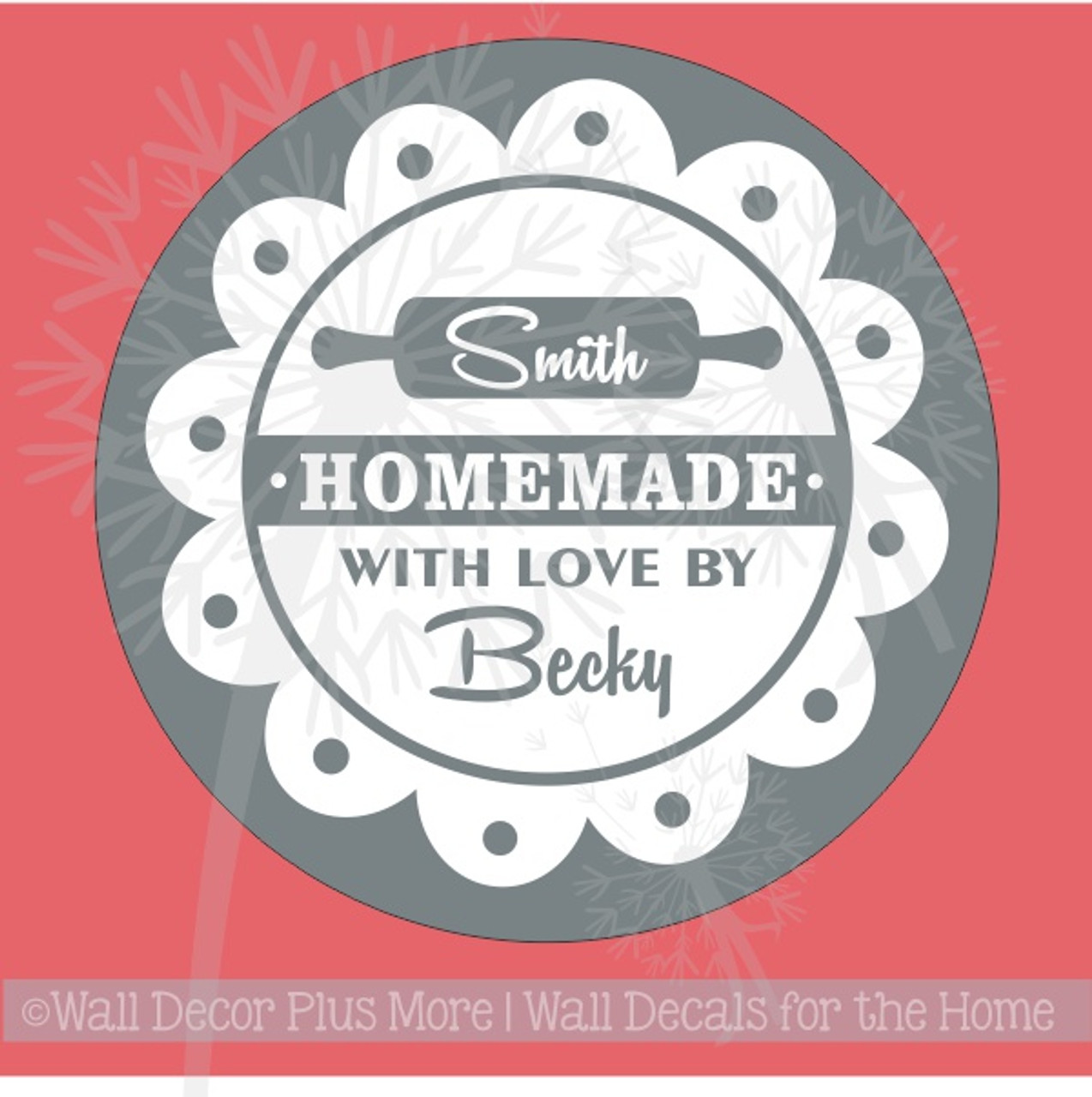 Personalized Vinyl Decal Sticker Stencil for Etching on Glass, Homemade  with Love Circle