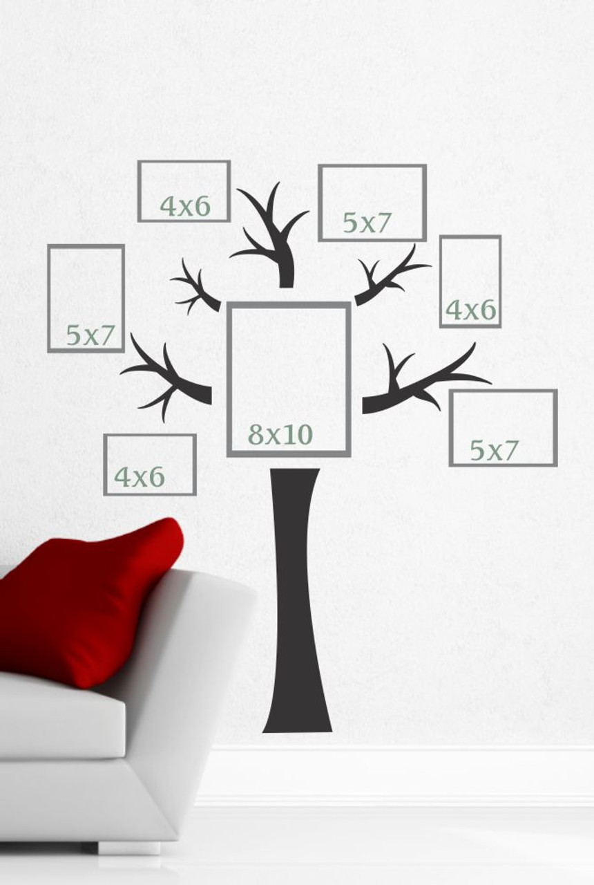 tree wall decal with branches vinyl stickers - popular wall art