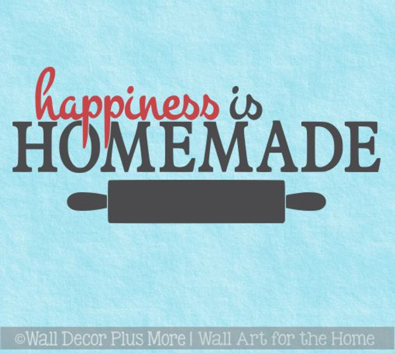 happiness is homemade kitchen quotes wall decals color vinyl