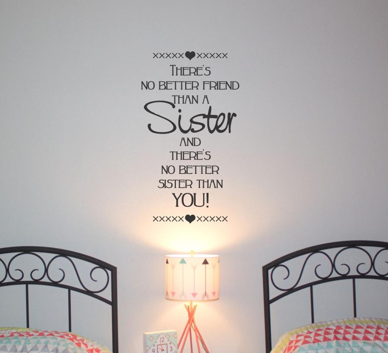 Sisters make the best of friends girls bedroom home wall art sticker nursery diy