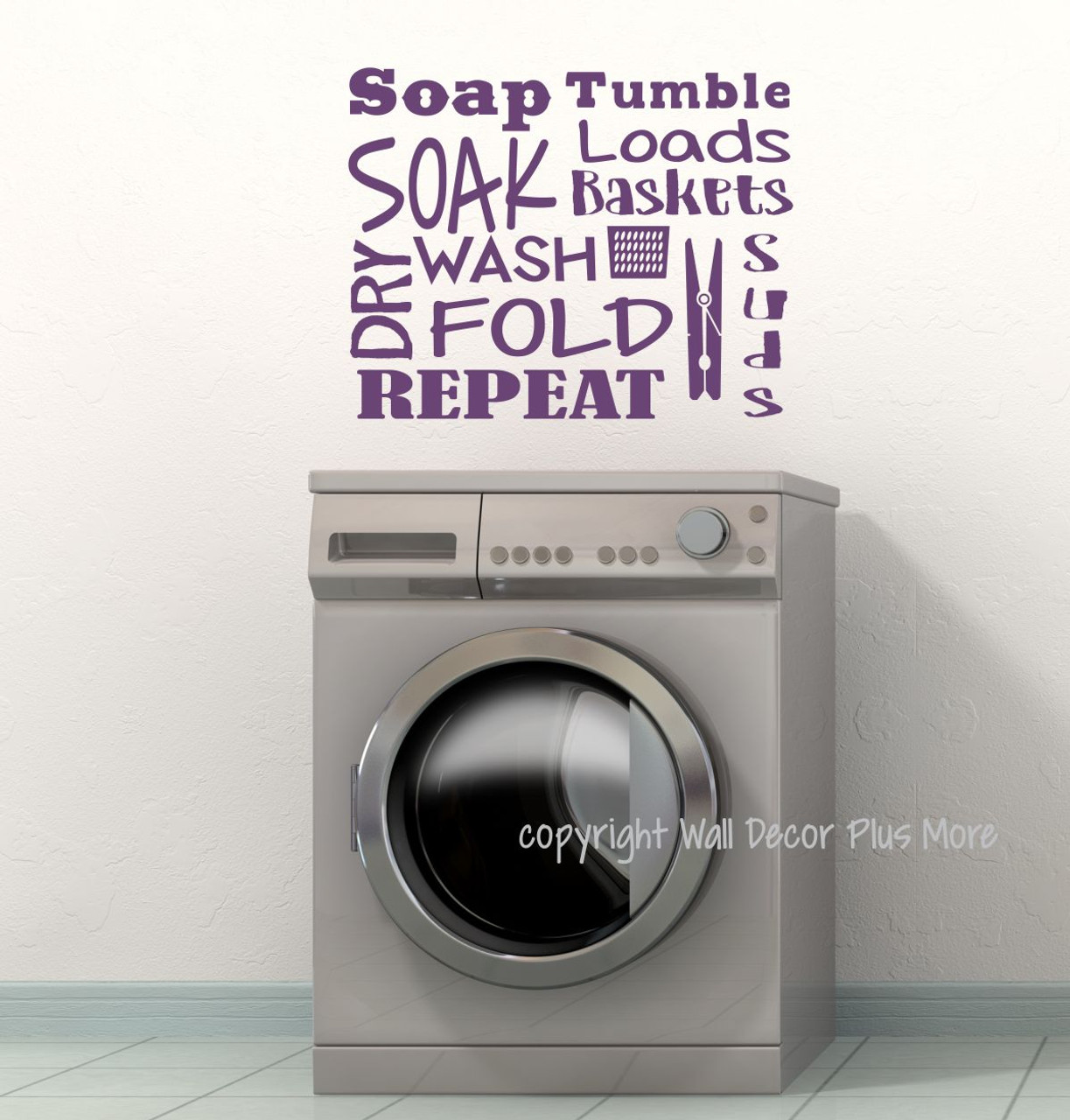 Winston Porter Wash And Dry Laundry Room Bathroom Vinyl Wall Decal Wayfair