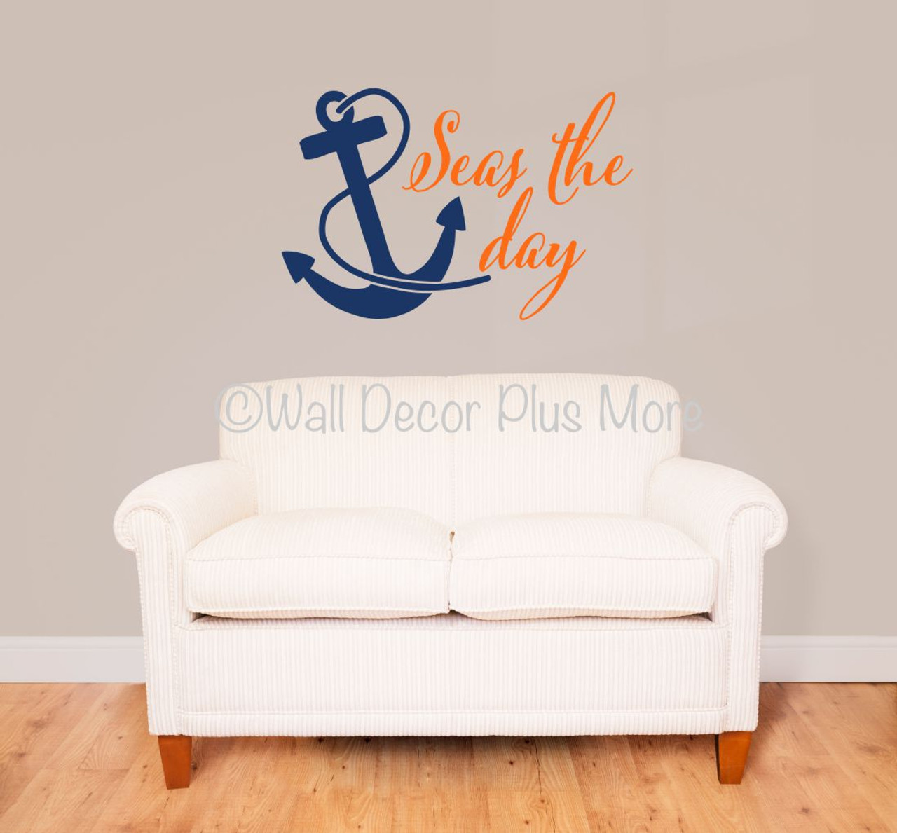 Anchor /& Personalized Family Name Wall Sticker Nautical Wall Art Wall Lettering