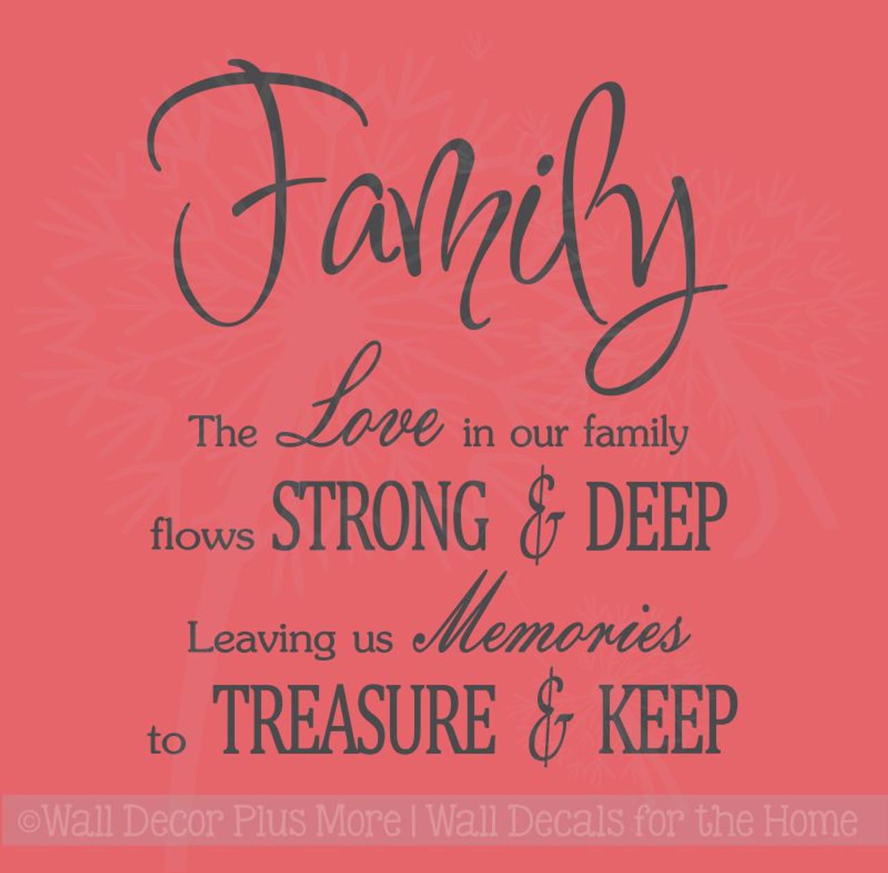 family love memories to treasure keep wall decals vinyl sticker