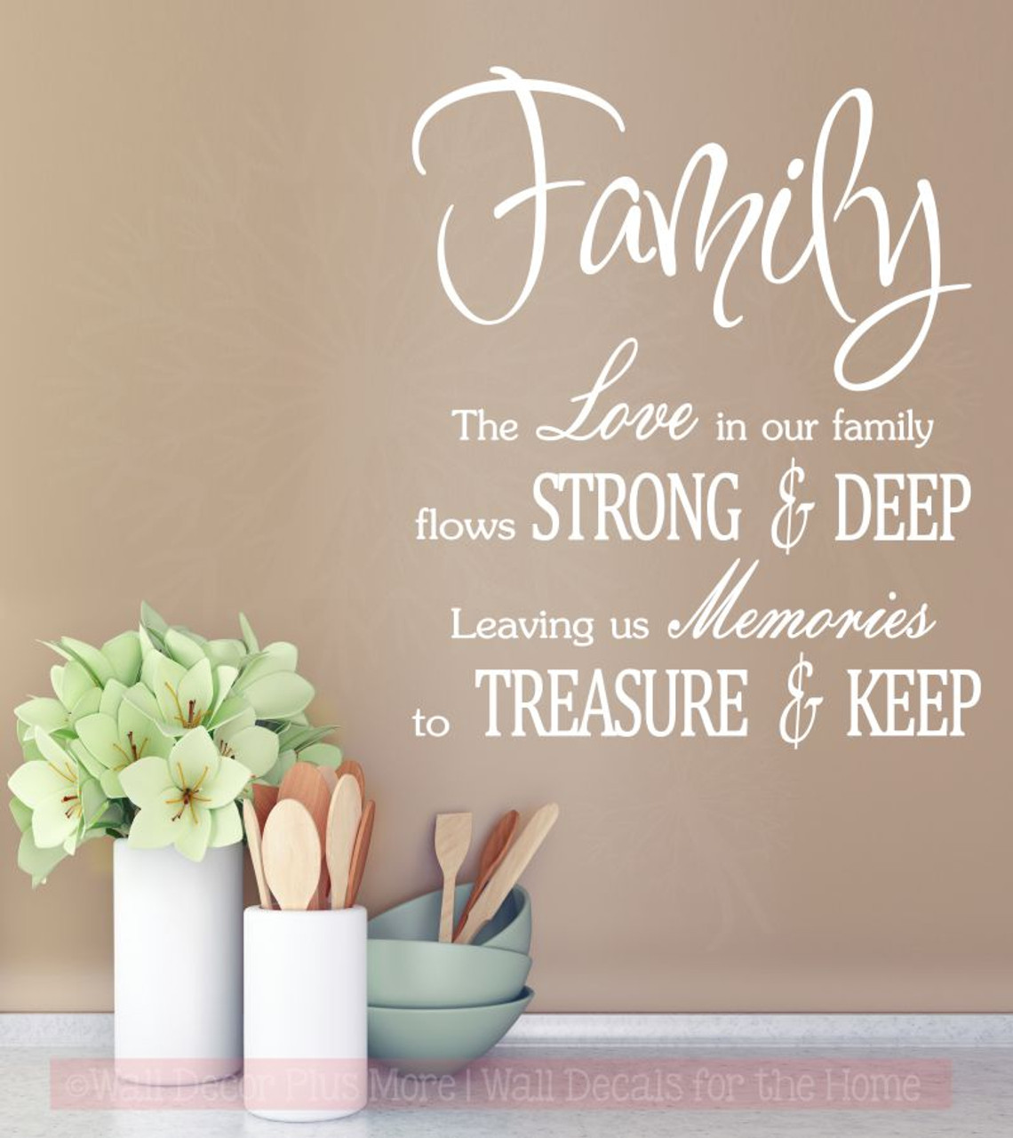 family love memories to treasure keep wall decals vinyl sticker for