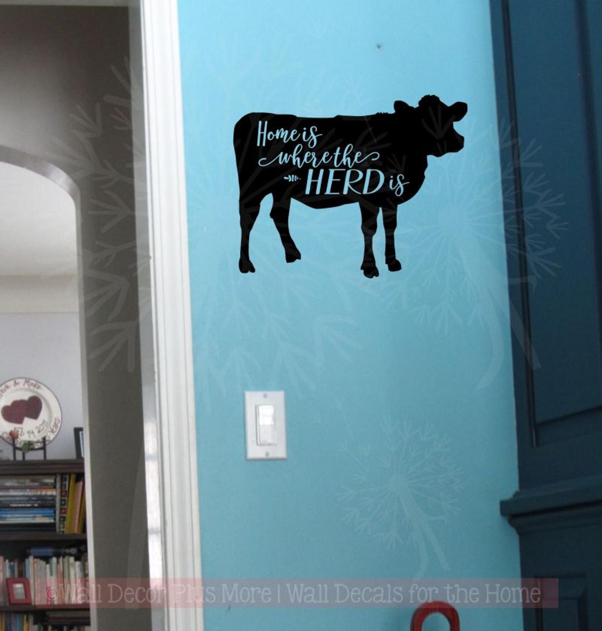 home herd vinyl decals wall art stickers quote cattle room decor
