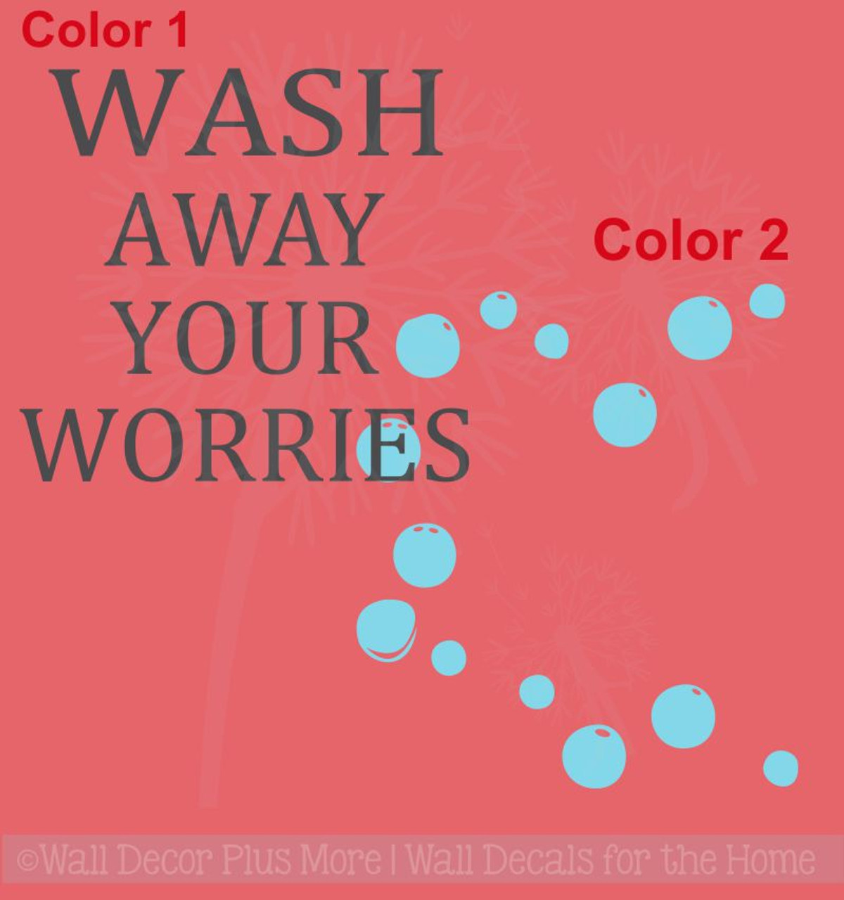Home Decor Items Bubble Your Troubles Away Bathroom Bubbles Sticker Wall Art Various Colours Home Furniture Diy Breadcrumbs Ie
