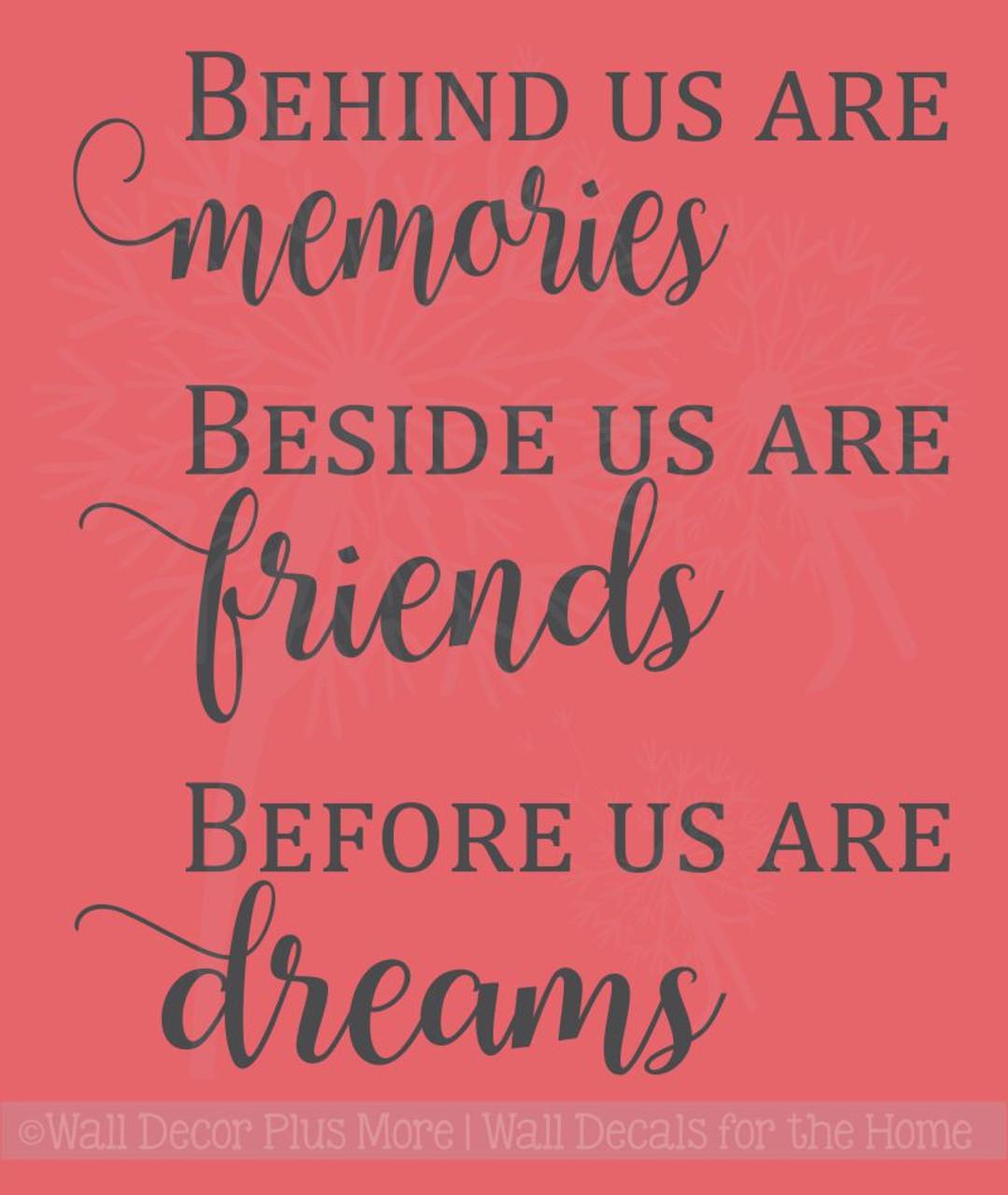Memories, Friends, Dreams Vinyl Lettering Art Family Wall Sticker Decals  Kitchen Home Decor