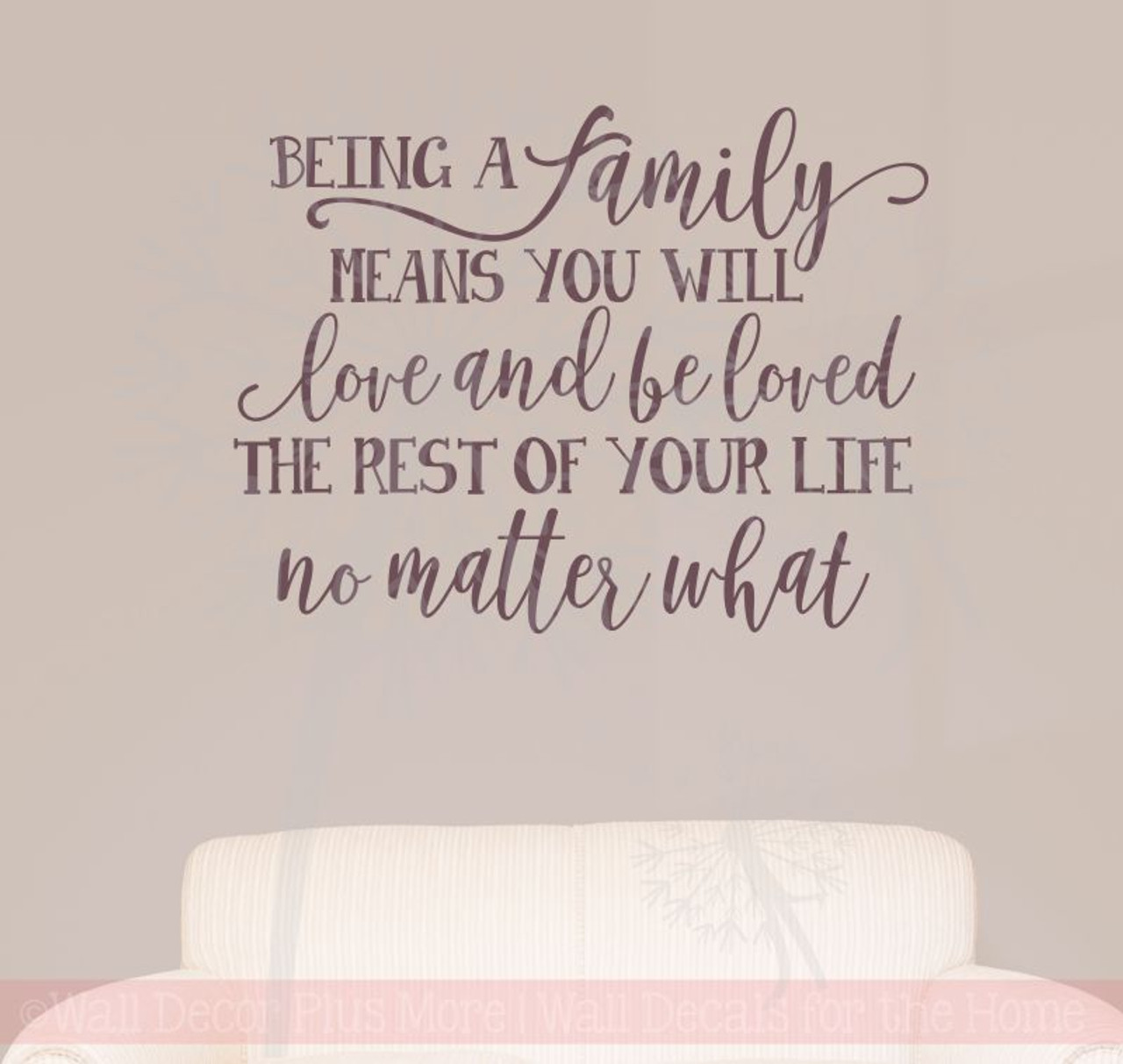 family's love rest of your life family wall stickers vinyl lettering
