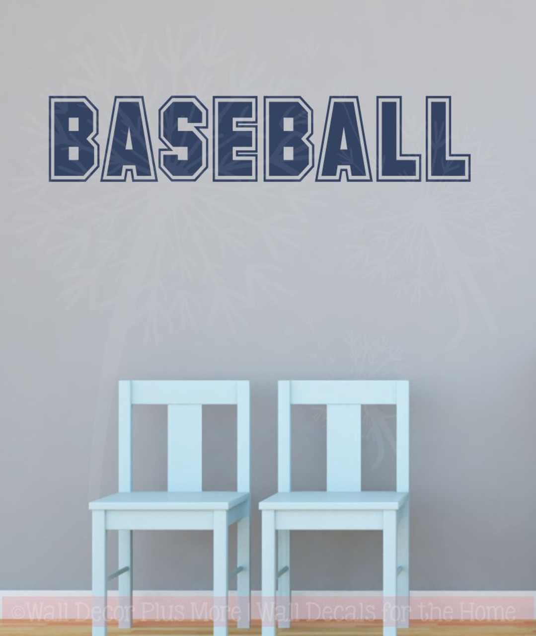 baseball sports lettering wall decal stickers for kids bedroom decor