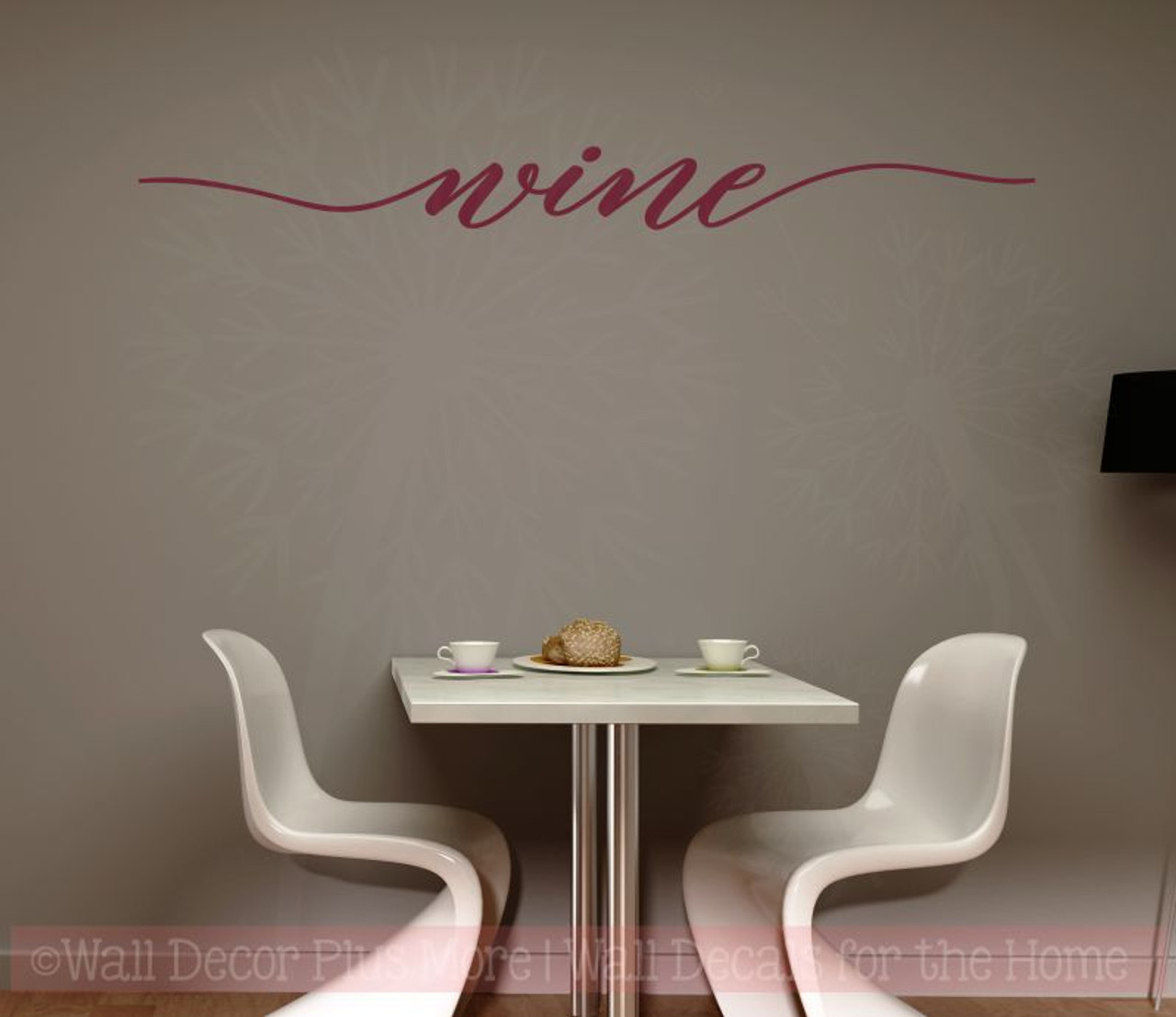 wine cursive wall sticker decals vinyl lettering art kitchen home decor