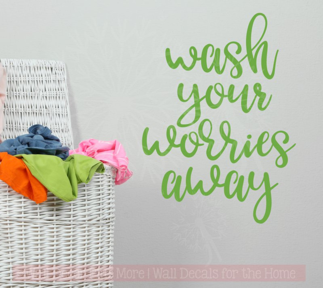 wash your worries away wall stickers laundry room vinyl decals
