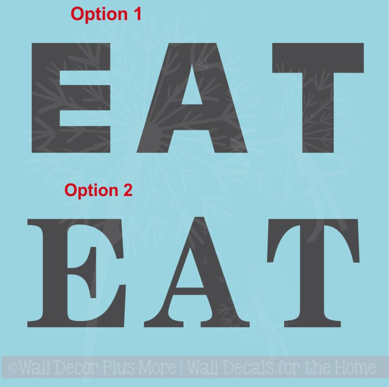 eat basic letters sticker kitchen wall decor vinyl lettering wall art decals