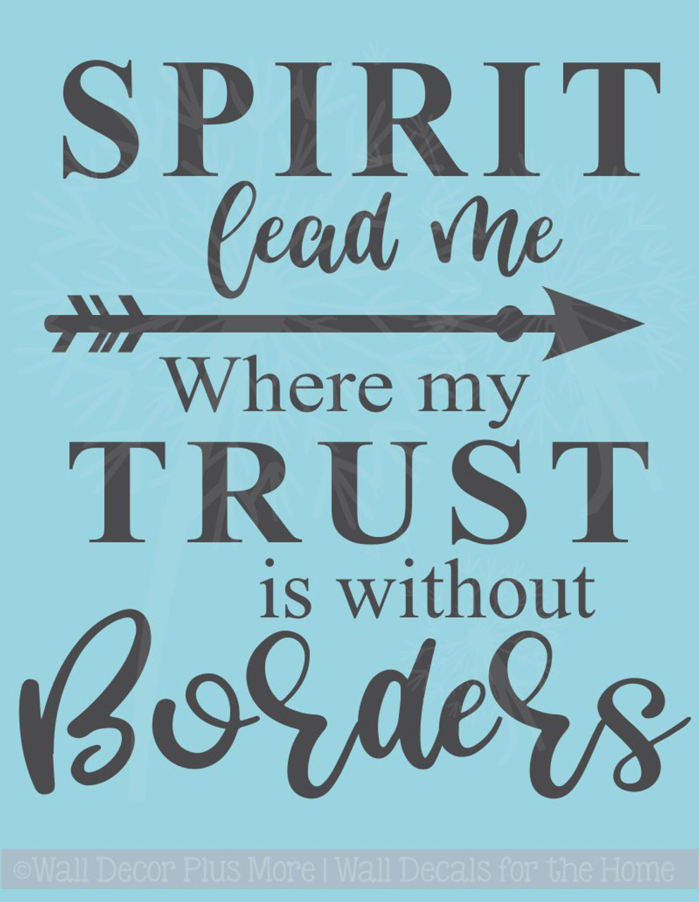 Spirit Lead Me Religious Wall Decals Vinyl Lettering Stickers Home Decor Quote