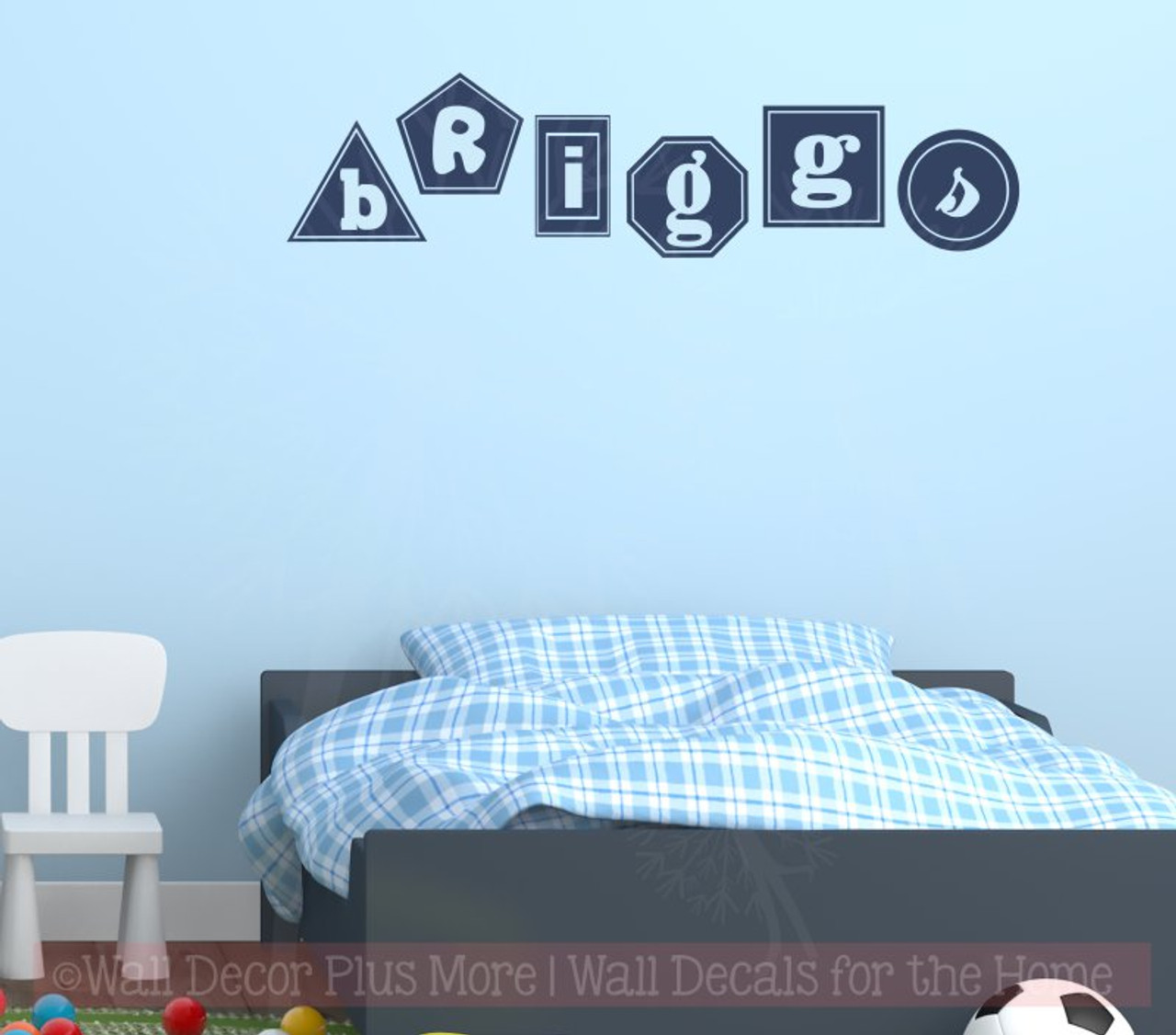 Geometric Shapes Personalized Name Wall Decals Nursery Décor Sticker
