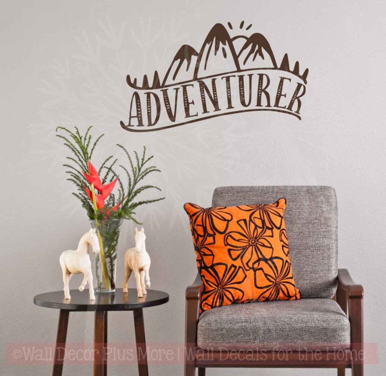 adventurer vinyl art stickers nature lover wall décor camper decal