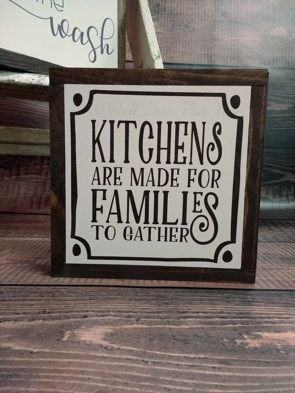 Kitchens Are Made For Families To Gather Wood Sign Metal Inspiring Words Hanging Wall Art 3 Choices Decor Plus More