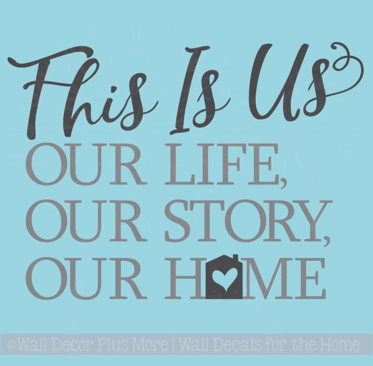 this is our home vinyl lettering decals home wall decor sticker