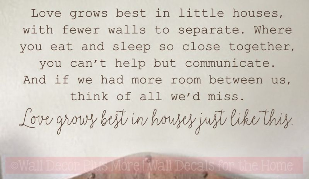 Loves Grows Best Little Houses Kitchen Wall Decals Vinyl Lettering