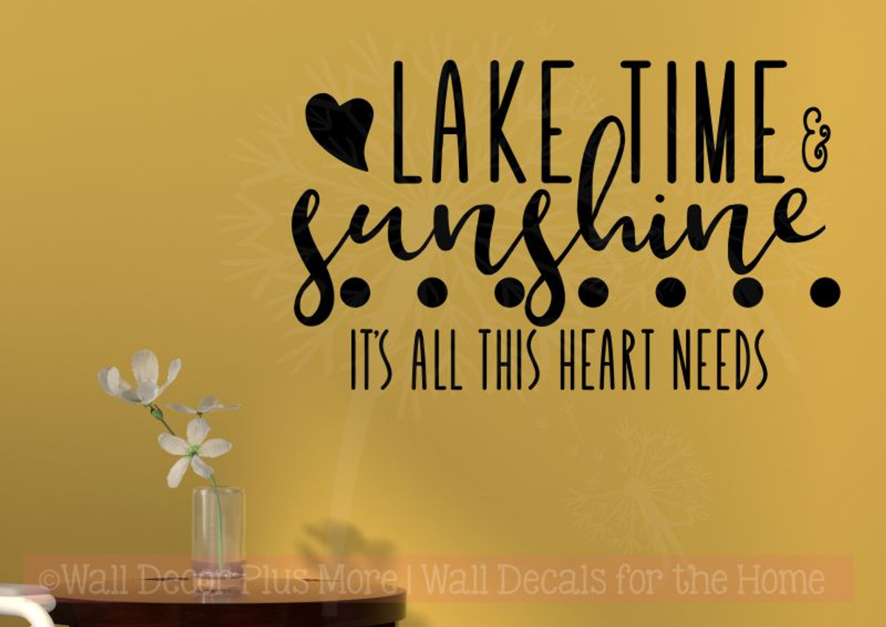 lake time sunshine girl bedroom decor quote vinyl lettering wall decals