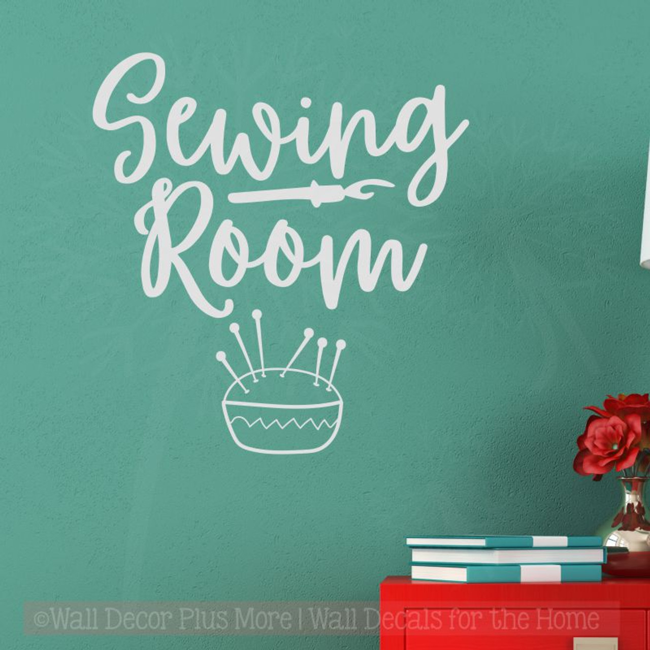 sewing room wall decals vinyl lettering stickers craft room decor