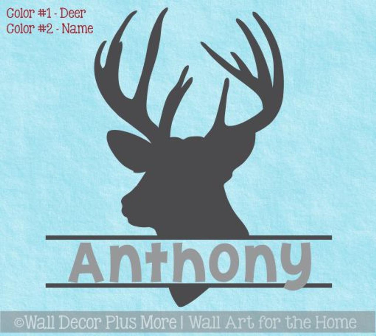 Deer Antler Wall Sticker Inspiration Hunting Vinyl Kids Bedroom Removable Decor