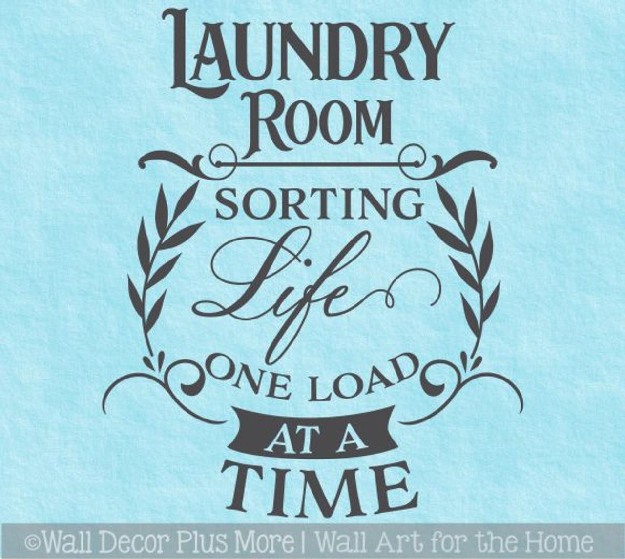 Life is Like Laundry Loads of Fun Wall Sticker Wall Art Vinyl Decals kitchen
