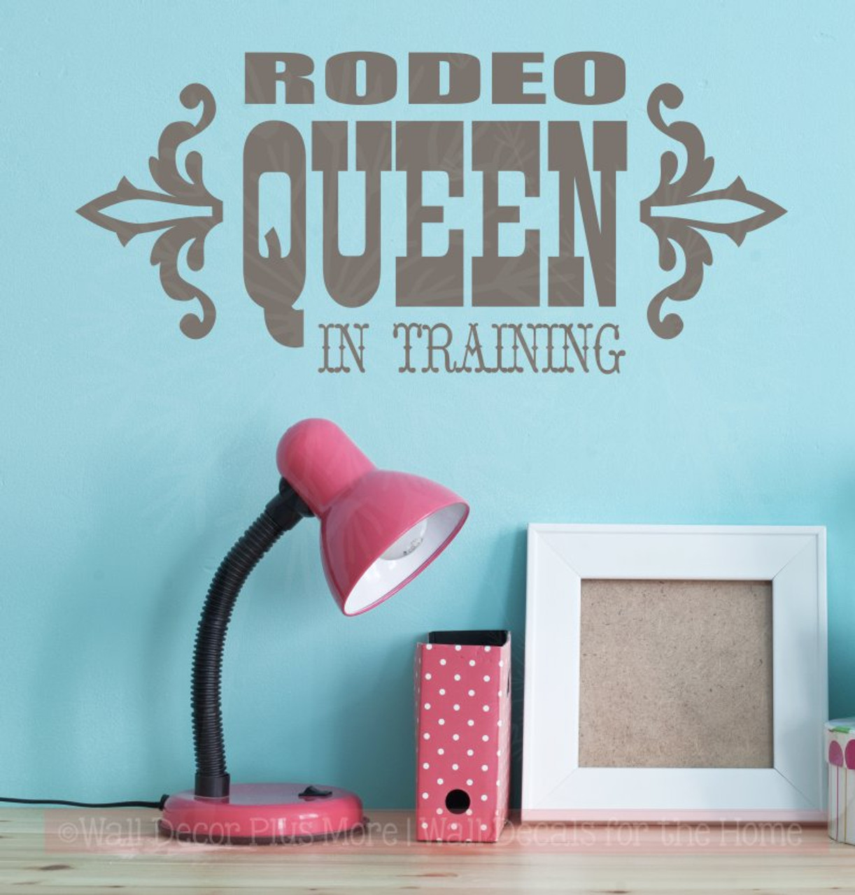 rodeo queen in training wall decals quotes western wall stickers