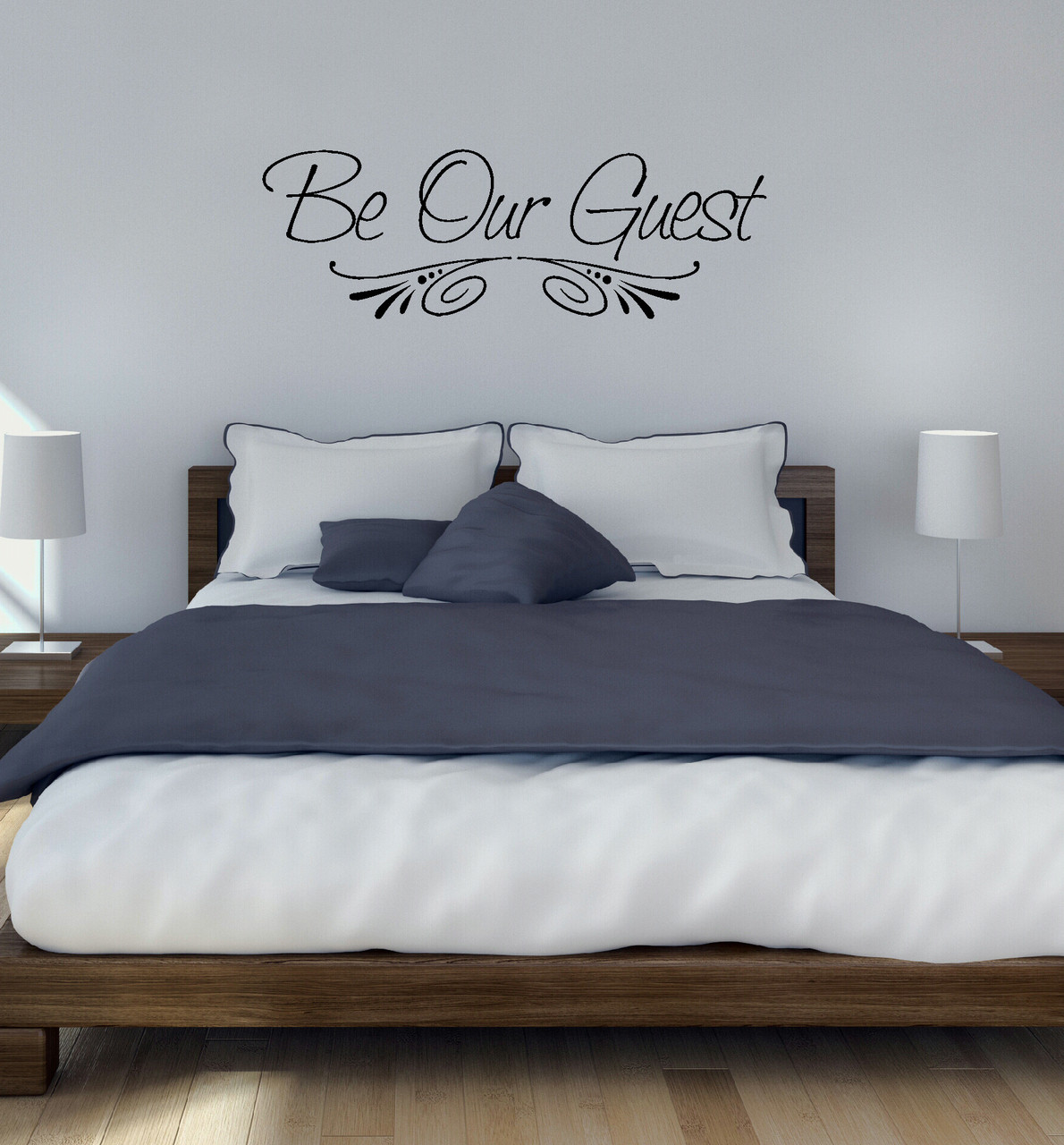 Guest Room Wall Decal Sticker For Wall Decor Black