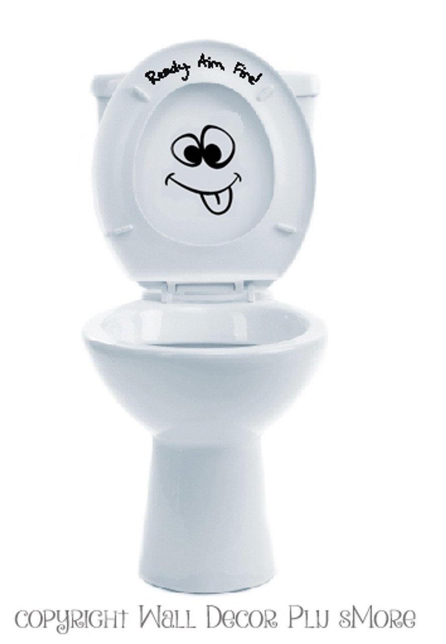Toilet Vinyl Decal Sign Bathroom Sticker