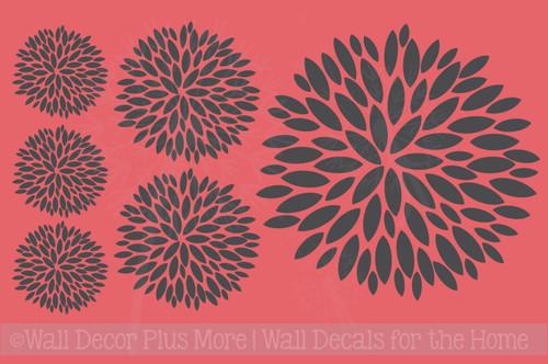 Floral Burst Vinyl Sticker Wall Decals Girl's Room Decor