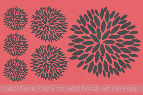 Floral Burst Vinyl Sticker Wall Decals Girl's Room Decor