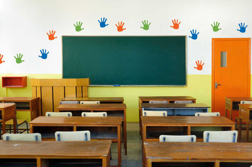 Vinyl Wall Decals Handprint Set Kids Art Room Daycare Preschool Graphic