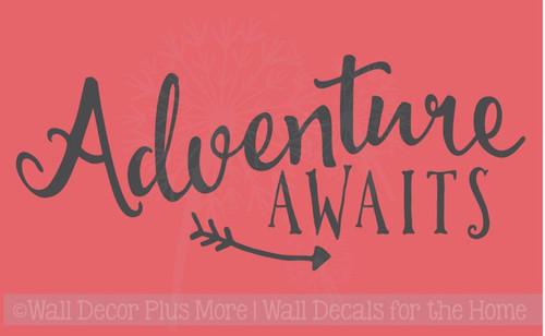 Adventure Awaits Vinyl Wall Decals Quotes for Children's Room Décor Arrow Art