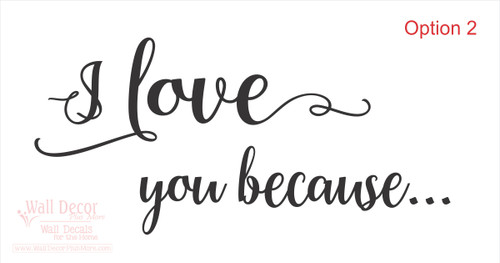 I Love You Vinyl Decal Lettering For Diy Project For Glass Frame