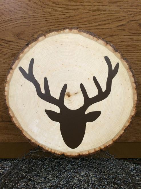 Vinyl Decals Sticker Deer Head Silhouette, Rustic Hunting Man Cave Decor