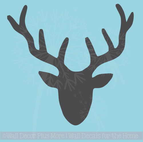 Deer Head Silhouette Vinyl Decal, Great decor for a Man Cave