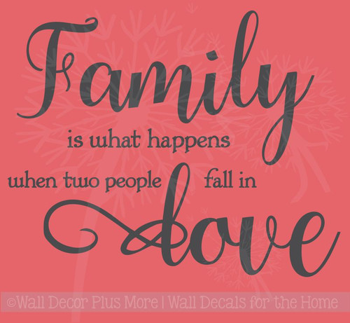 When Two People Fall in Love Family Wall Letters Quotes Wall Decals